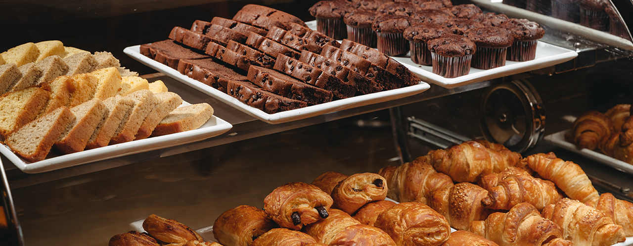 Gastronomy - Croissants and Chocolate Cakes
